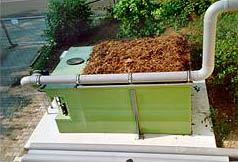 Biofilter with series washer